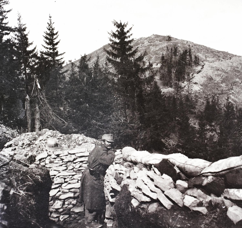 A Magyaros-tető, 1917. március. Forrás: Balogh-Ebner Márton gyűjteménye.