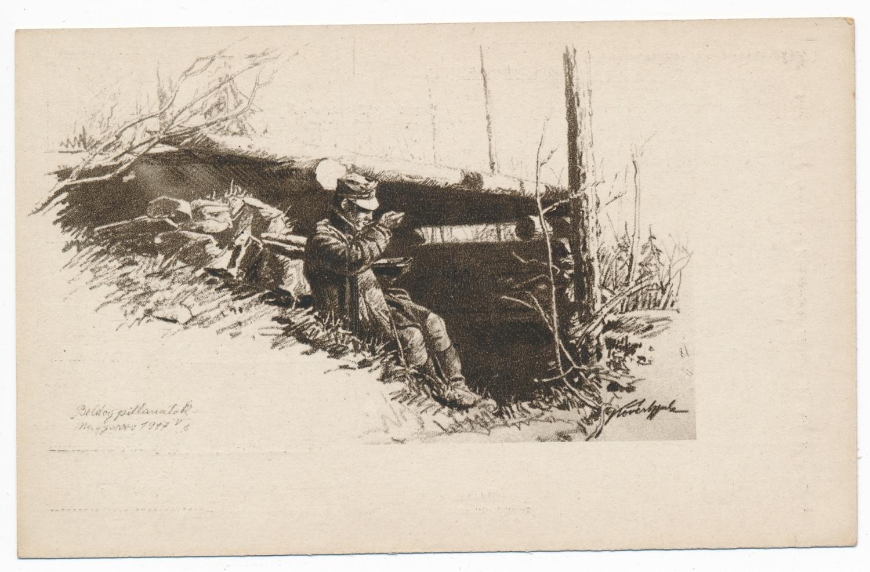 """""""Boldog pillanatok, 1917. május 6."""" Forrás: Béky Zoltán gyűjteménye."""