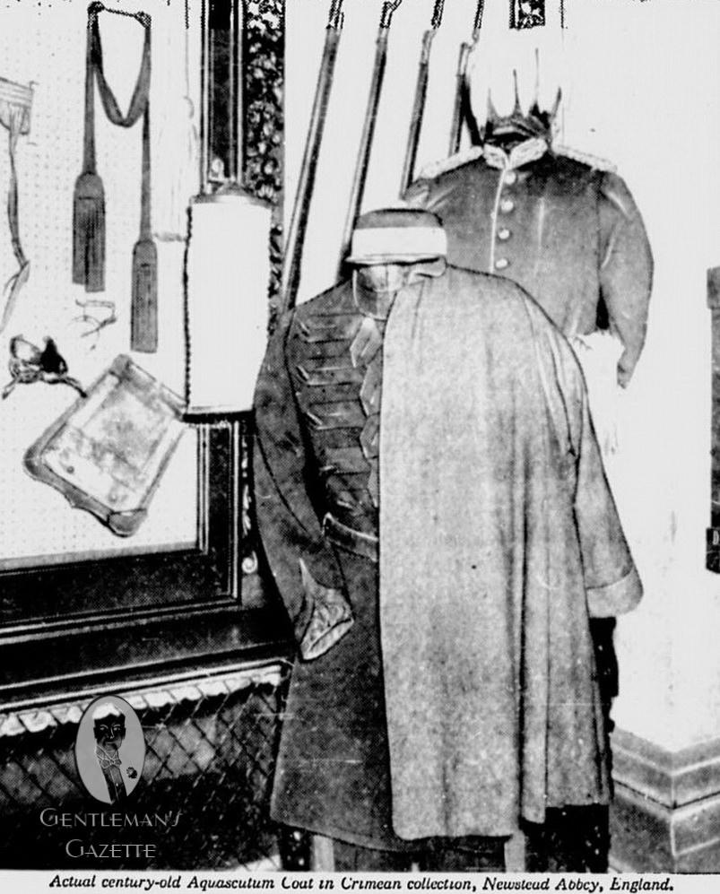 Szürke Aquascutum ballonkabát 1854-ből. Forrás: Gentleman's Gazette