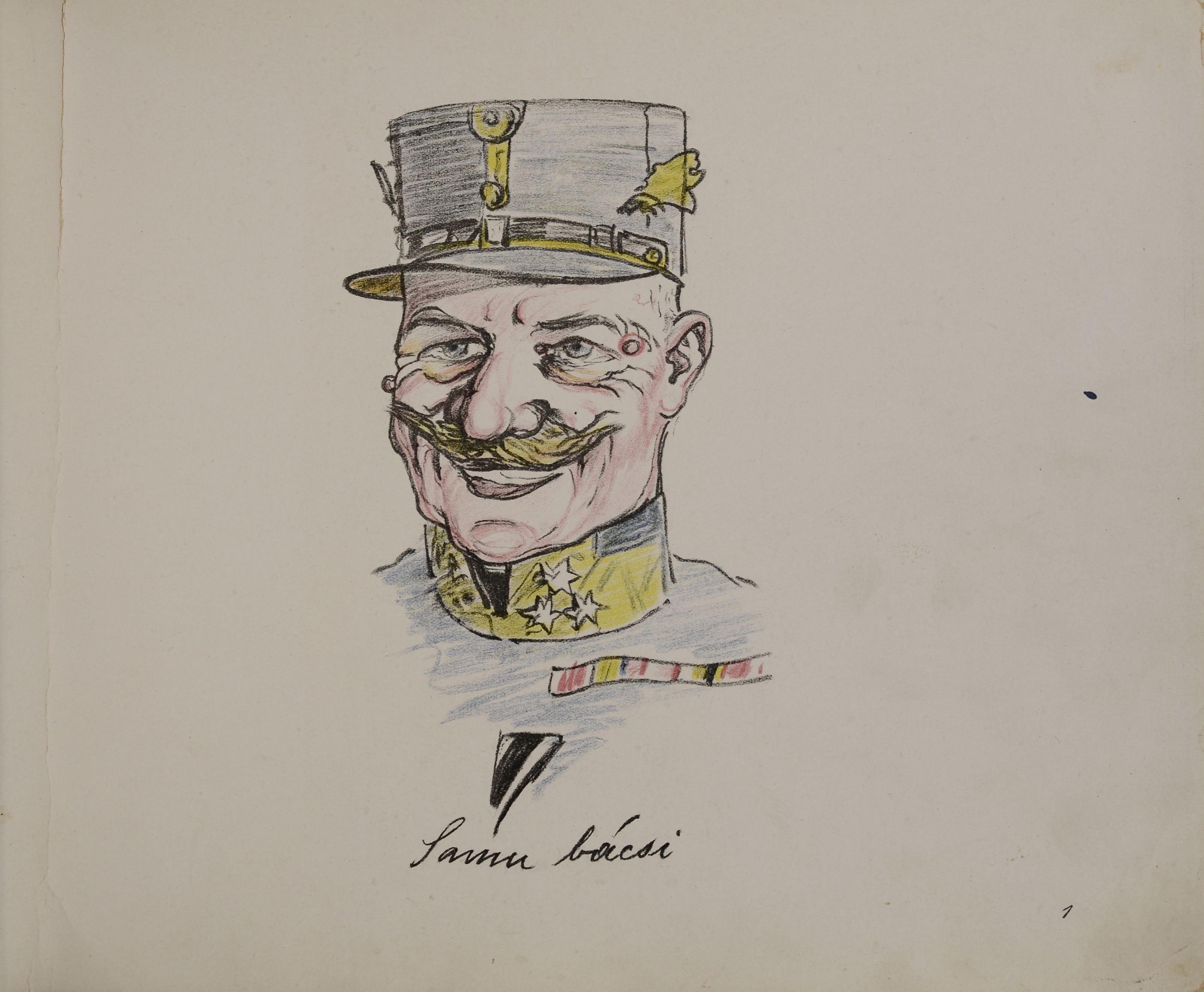"""""""Samu bácsi"""" (Daubner Samu tábornok, az alakulat első ezredparancsnoka)"""