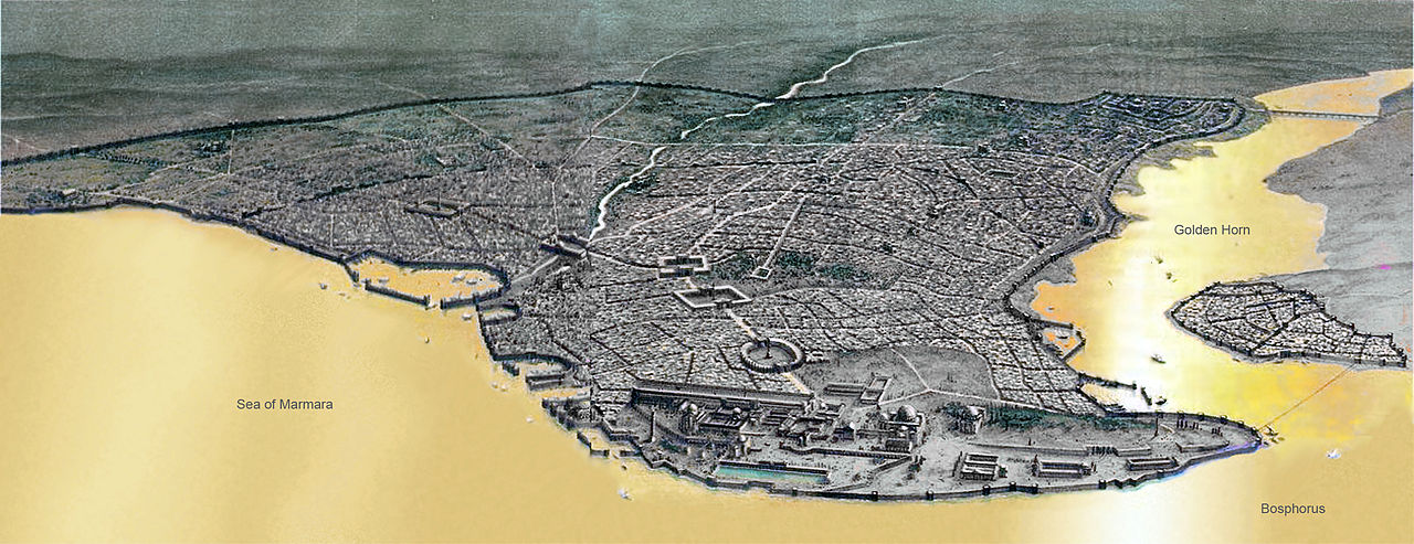 Konstantinápoly 11. századi látképe