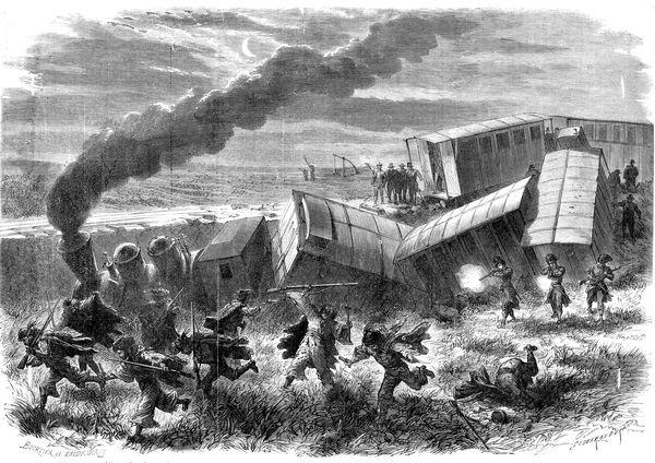 Egy korabeli francia újságban megjelent kép az 1868. december 8-i támadásról (Küllős Imola: Betyárok könyve. Mezőgazdasági kiadó, Budapest, 1988, 236.o.)