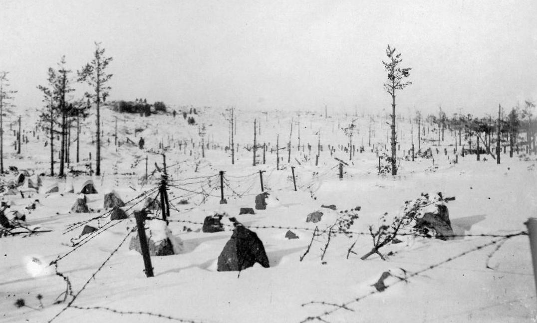 A Finnországot védő Mannerheim-vonal egy részlete 1940-ben. Wikipedia