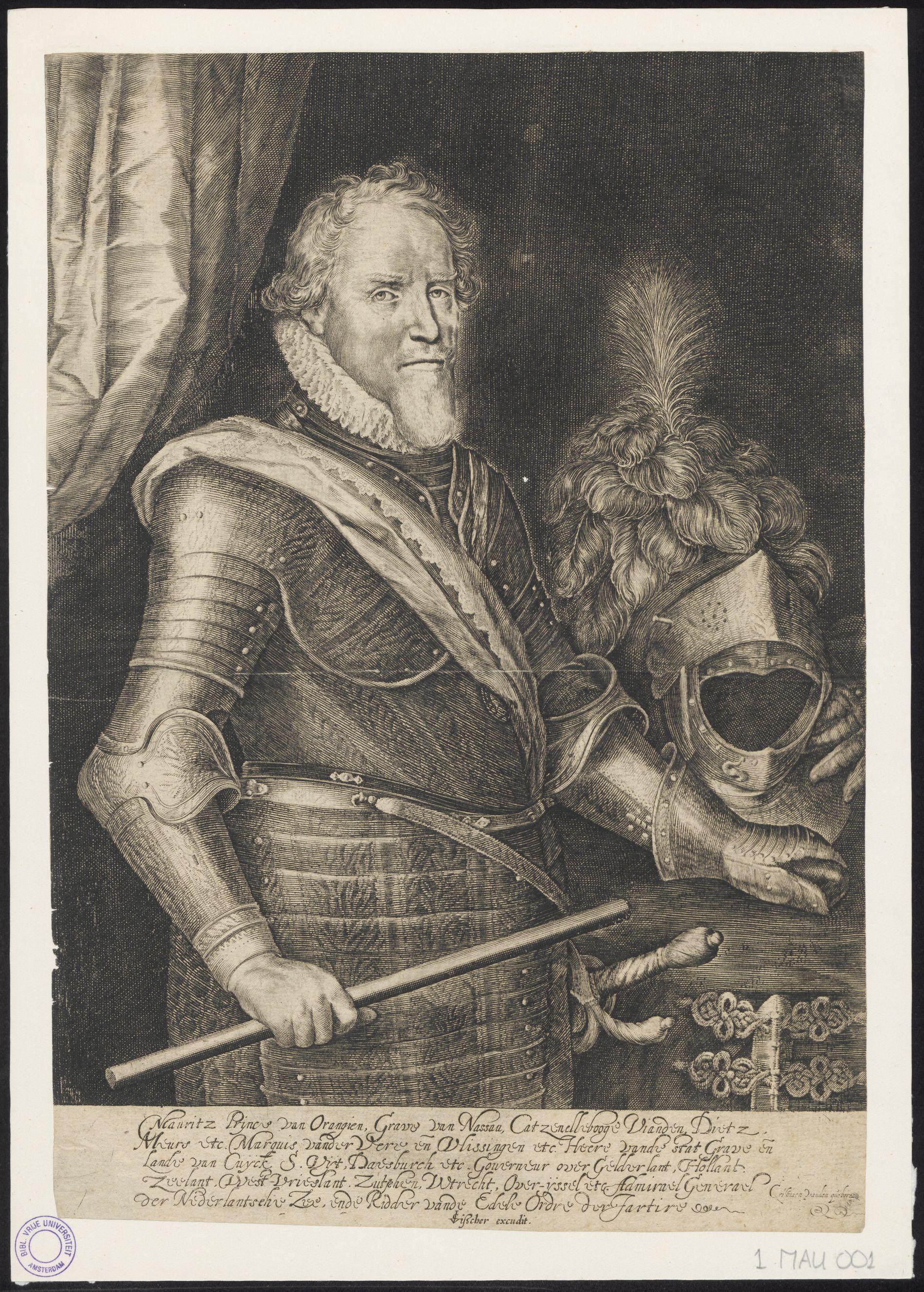 Órániai Móric, Museum Catharijneconvent en Vrije Universiteit, Amsterdam, PORTRET 1 MAU 001