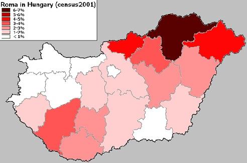 Cigány 6 roma népesség Magyarországon, 2001