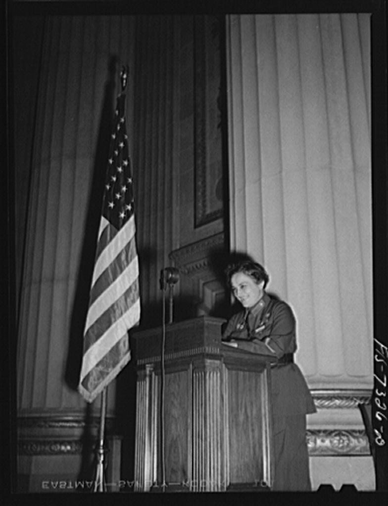 Épp egy ifjúsági gyűlésen mond beszédet Washingtonban Forrás: Library of Congress