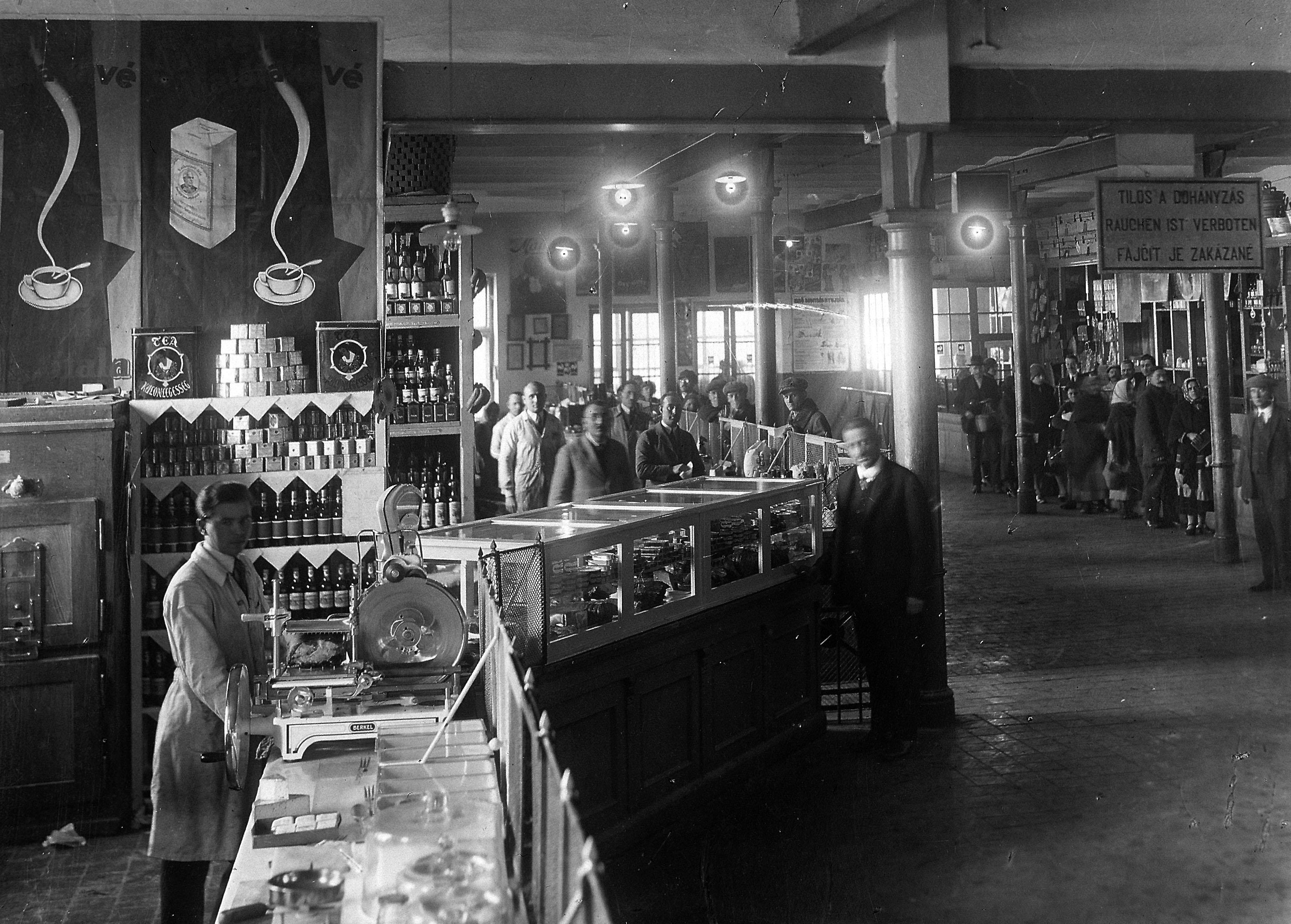Az élelemtár fűszerosztálya (Forrás: Tatabányai Múzeum)
