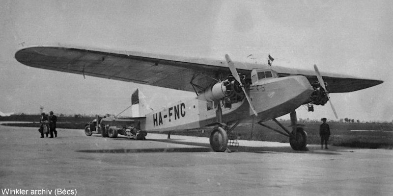 Fokker F. VIII magyar színekben (Winkler Gyula archívumából)