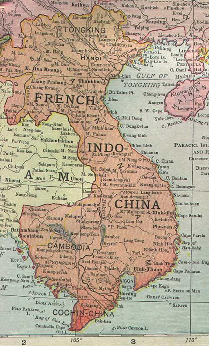Francia Indokína térképe