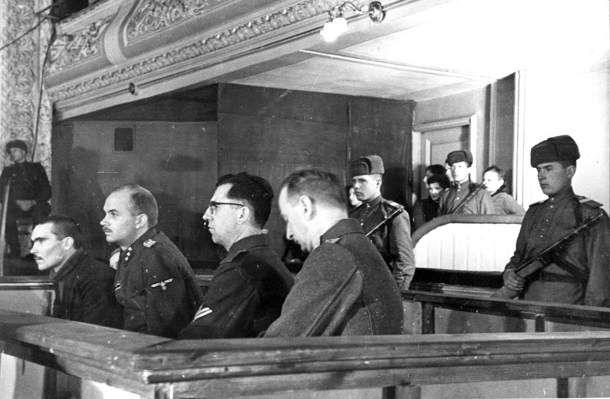 Német vádlottak az 1943. decemberi harkovi perben