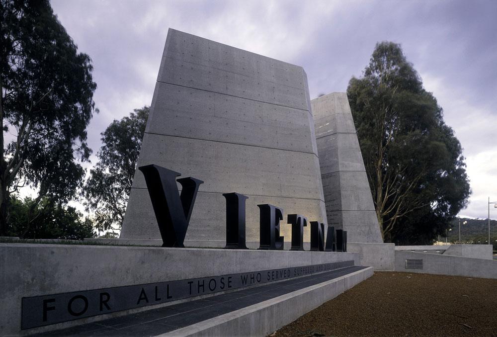 A vietnami veteránok emlékműve Canberrában