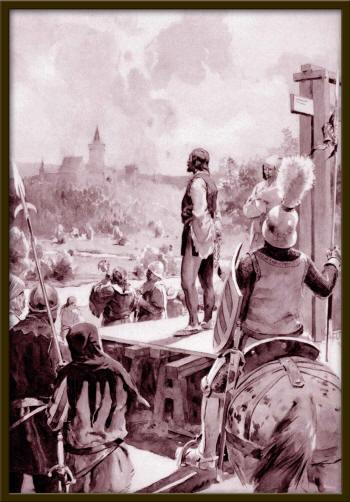 Zavis kivégzése egy 20. századi ábrázoláson (Forrás: wikipedia)