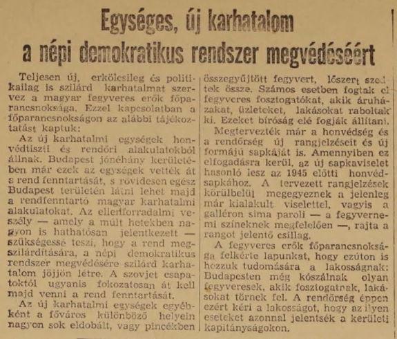 Népszabadság 1956. november 14.