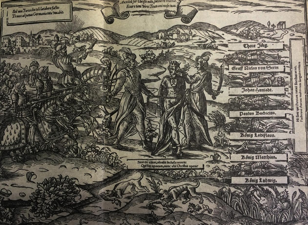 Johann Nel: Germánia a töröktől szorongatott Hungária segítségére siet (1581 vagy 1582) In: GALAVICS, 1986. p. 20