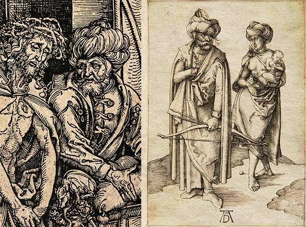 """Albrecht Dürer: """"Ecce Homo"""" c. (1497/98) és """"A török család címe műve"""" (1496/97)"""