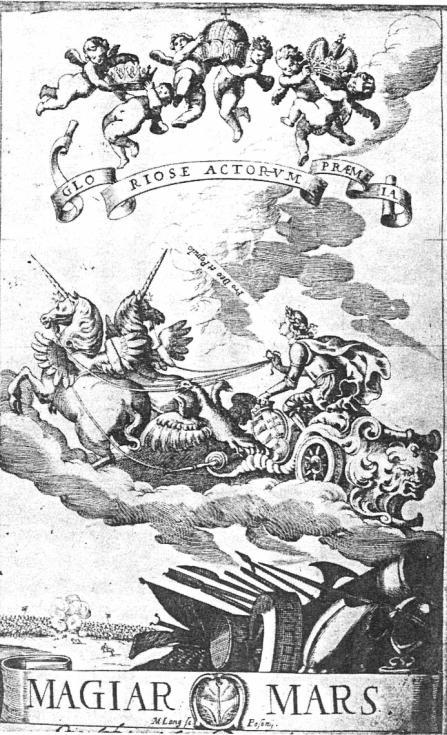 Liszti László: A magyar mars címlapja, 1653. Egyetemi Könyvtár