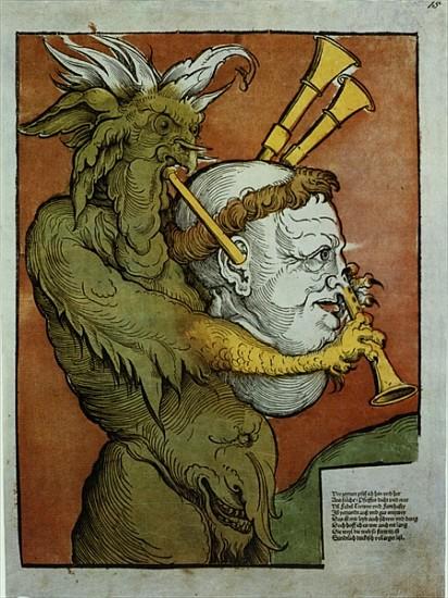 Eduard Schoen: Luther, mint az ördög dudása, 1535