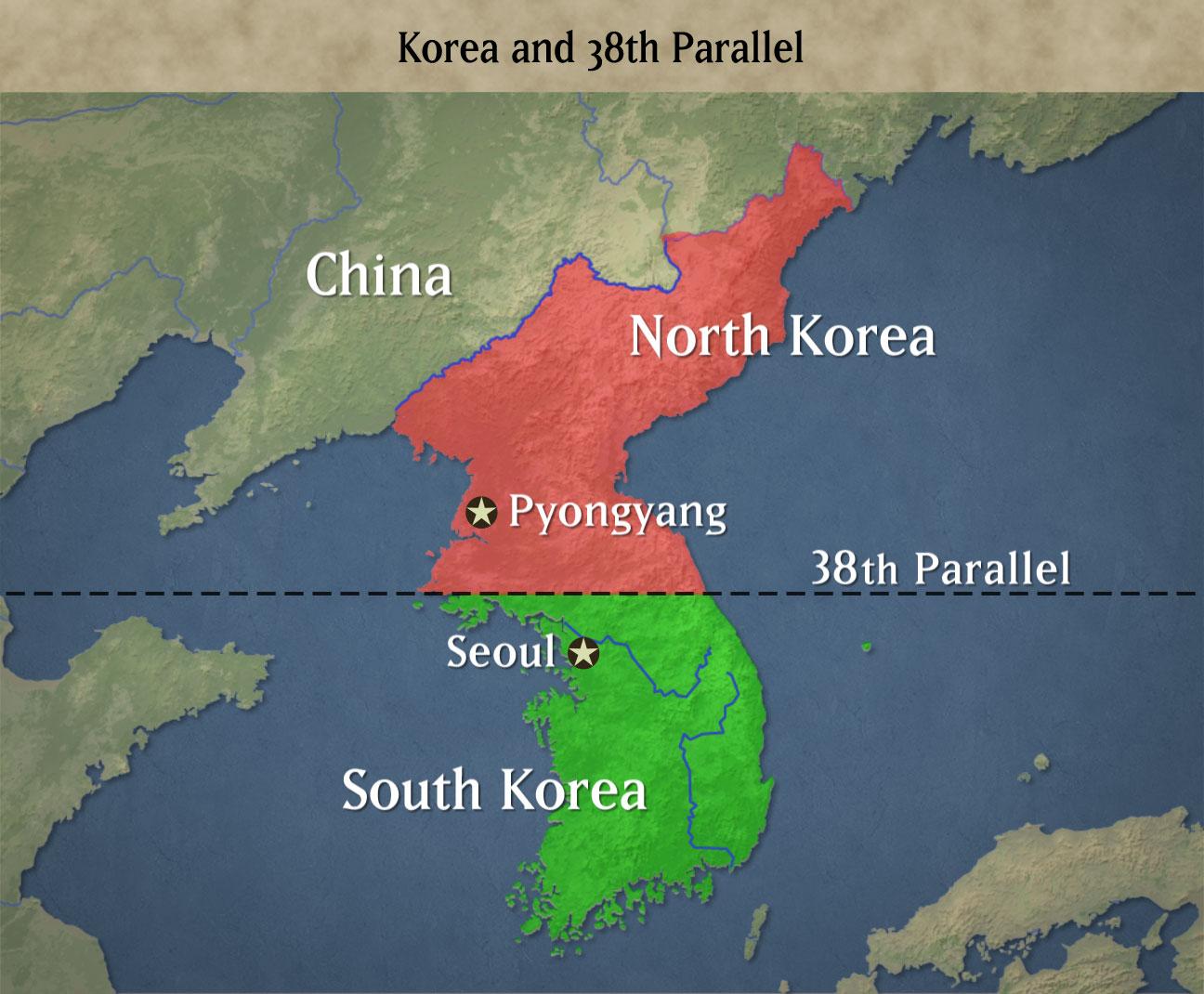 Korea megosztása a NatGeo térképe alapján. (Forrás: Kevin Meyer blog)