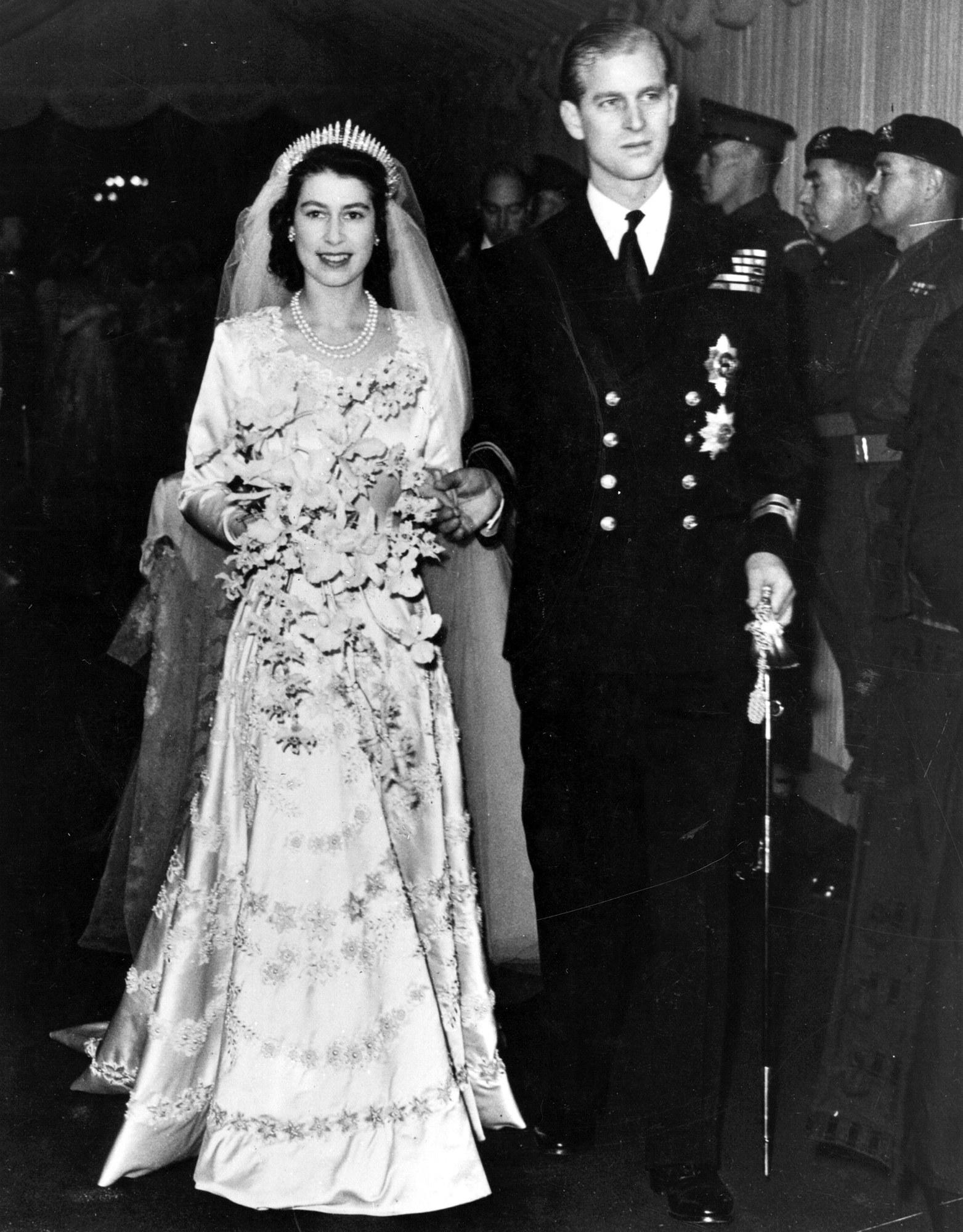 Erzsébet és Fülöp esküvője, 1947. november 20. Forrás: Getty Images