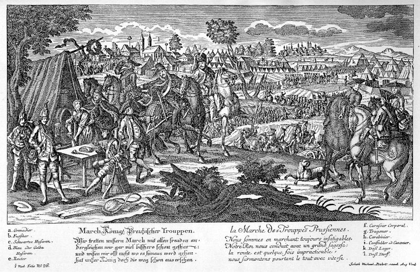 Porosz csapatok a hétéves háború idején