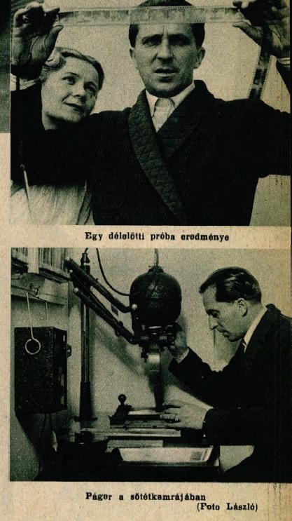 A szenvedélyes fényképész (Színházi Élet, 1936 39. sz.)