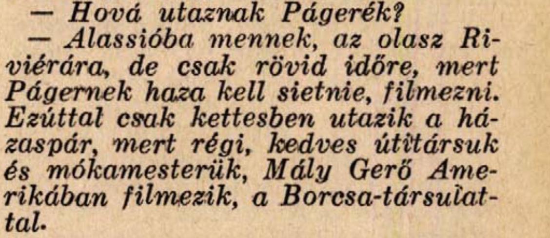 Celebhírek 1938-ból