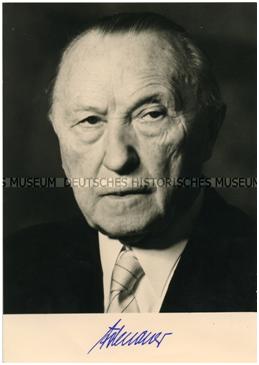 Az NSZK kancellárja, Konrad Adenauer. (Fotó: Deutsches Historisches Museum)