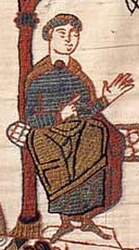 Odo, Hódító Vilmos féltestvére a bayeuxi kárpiton. (Forrás: Wikipedia)