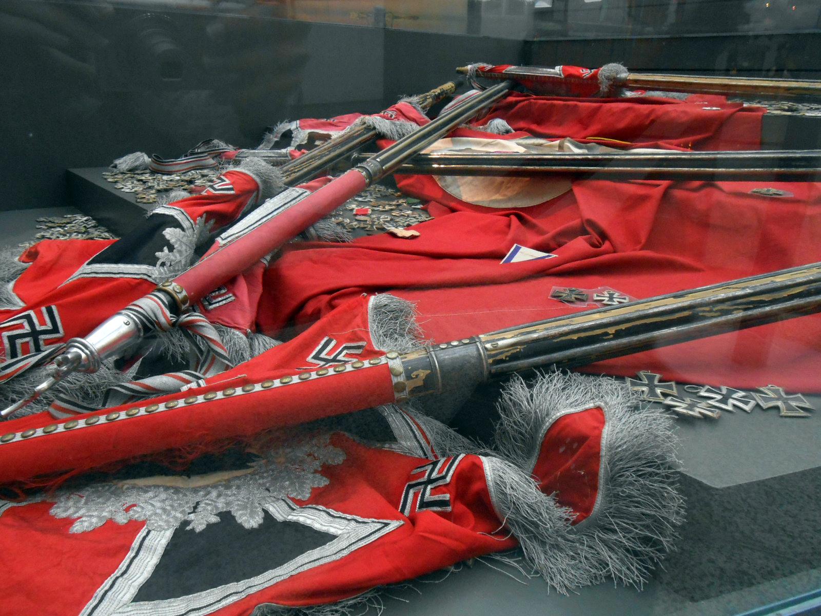 A nácizmus feletti győzelem szimbóluma a Nagy Honvédő Háború Központi Múzeumában (a szerző felvétele)