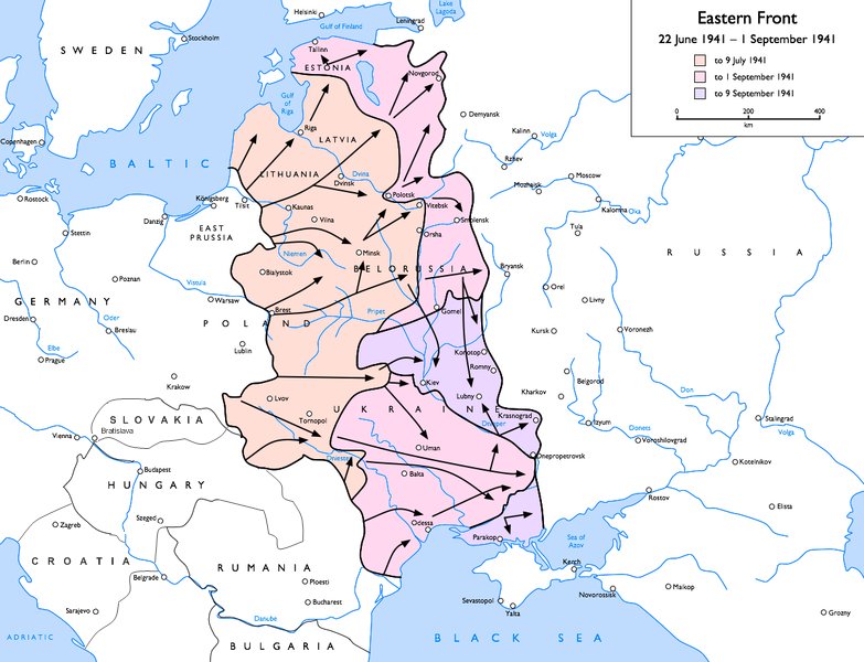 A keleti front 1941. szeptember elején