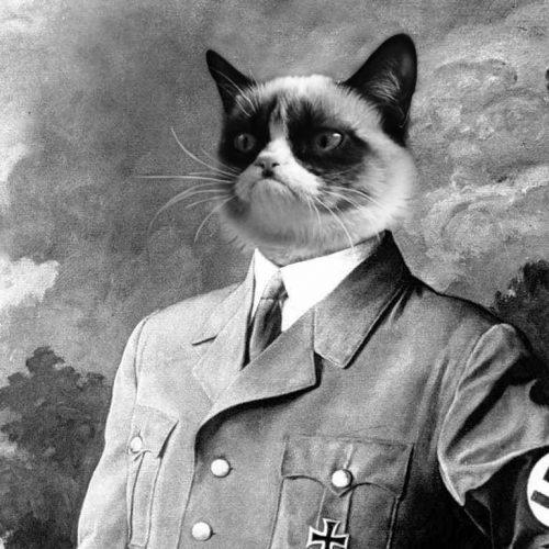 Mit csinál Hitler ezzel a macskával?!4? (18+)