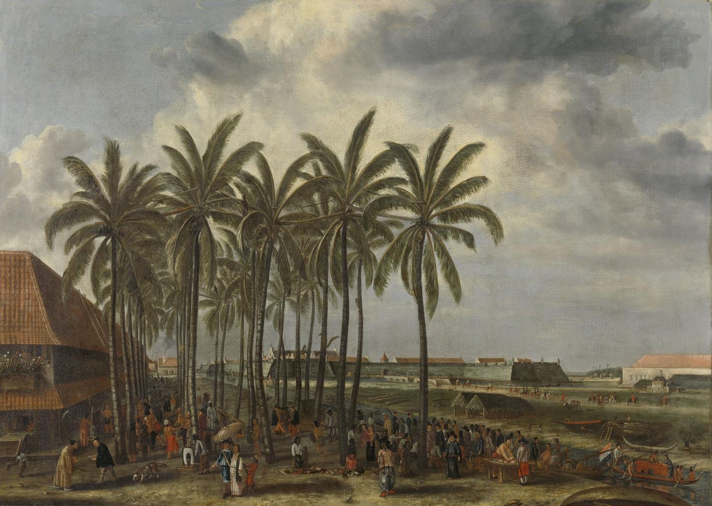 Andries Beeckman: Batávia erődítménye, 1662 k. Riskmuseum, SK-A-19