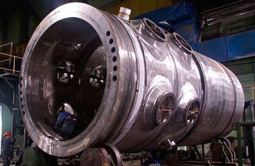 Egy nyomottvizes reaktor tartálya.