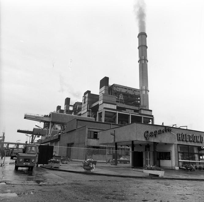 A hagyományos visontai Gagarin hőerőmű. Forrás: Fortepan 87769