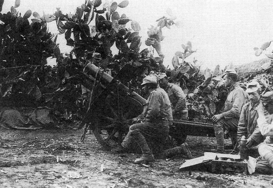 Magyar tüzérek a második gázai csata alatt.