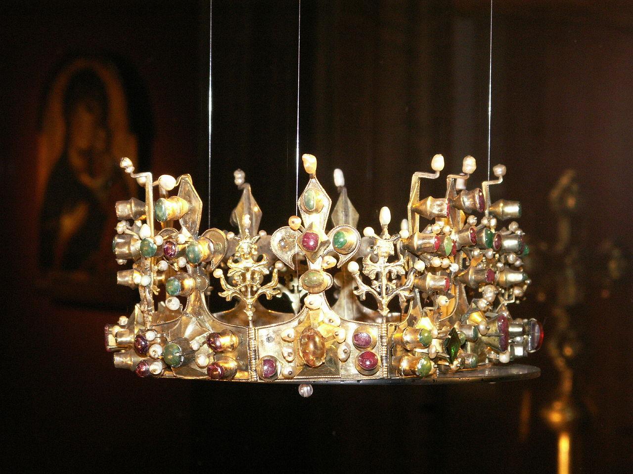 Kotromanic Erzsébet királyné Zárában őrzött koronája