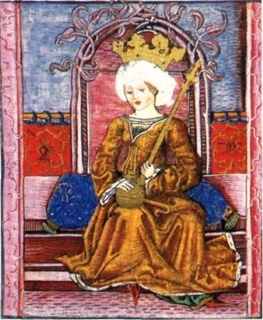 Mária királynő ábrázolása a Thuróczy-krónikában