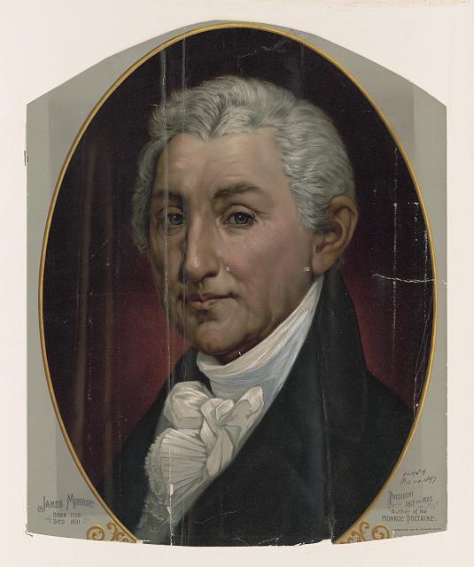 James Monroe elnöksége idején (1817-1825) készült Széchenyi gróf az Egyesült Államokba. Kép forrása: Library of Congress, Fotográfiai Gyűjtemény: LC-DIG-pga-07238