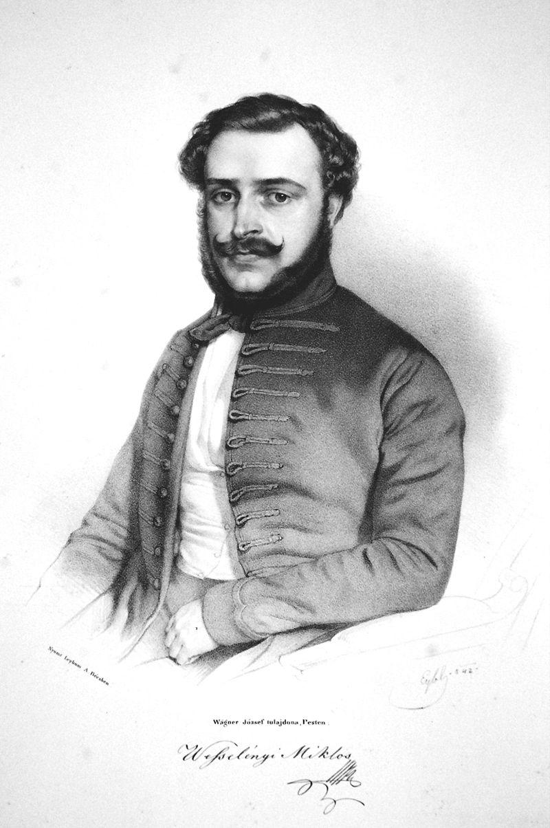 Franz Eybl: Wesselényi Miklós, litográfia, 1842