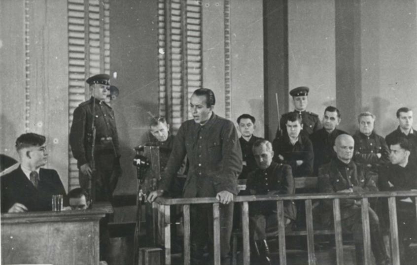 Vádlottak az 1946-os minszki perben. (Forrás)