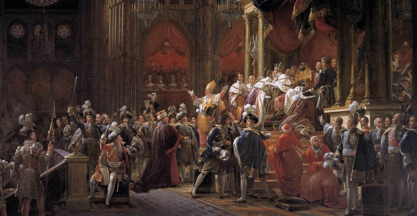 X. Károly (1824-1830) koronázása Francois Gérard 1827 körül készült festményén