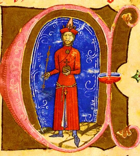 Kun László király a Képes Krónika miniatúráján