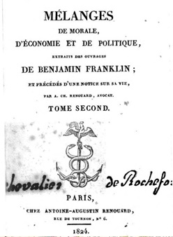A Széchenyi által is megvásárolt, 1824-ben kiadott Renouard könyv címlapja