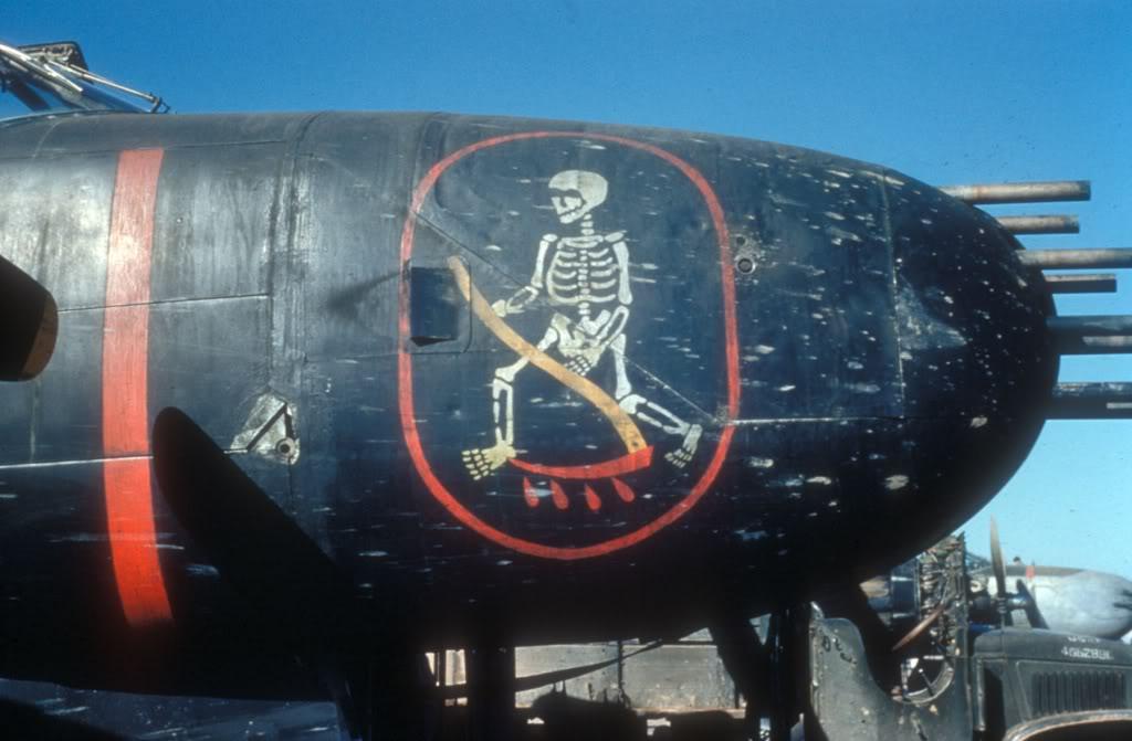 Az ellenséges gyalogság réme; látható az orrba épített nyolc nehézgéppuska