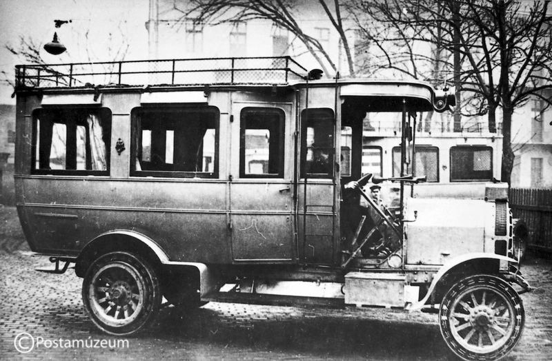 16 lóerős személy és csomagszállító autóbusz 1910