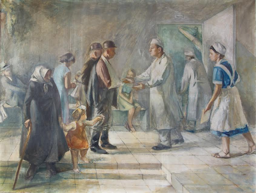 Nagy János: A gyógyulás öröme I. (forrás: Tatabányai Múzeum)