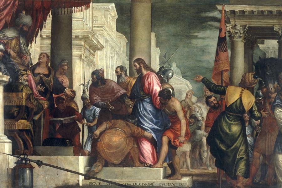 Benedetto Caliari: Krisztus Pilátus előtt.