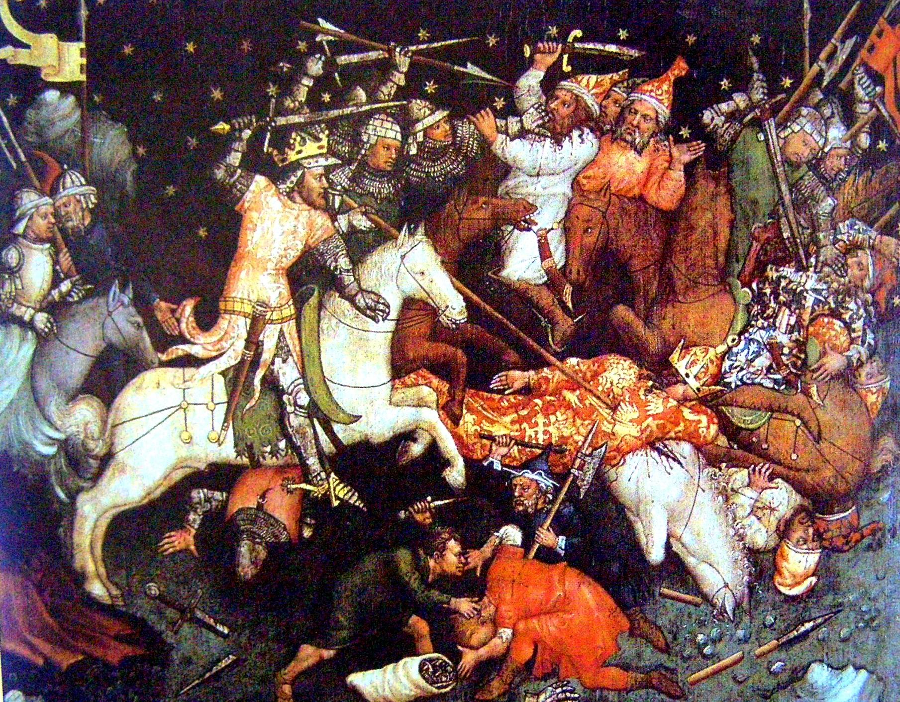 Hans von Tübingen: Nagy Lajos csatája a törökkel.