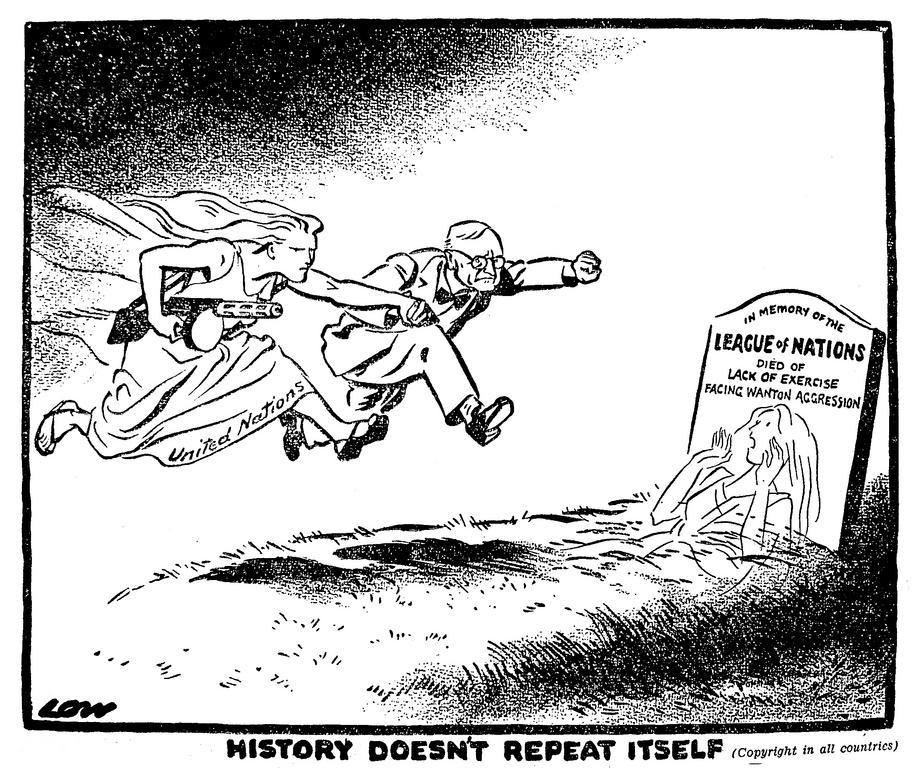 Truman és az Egyesült Nemzetek rohannak Koreába. A történelem nem ismétli önmagát. Forrás: CVCE