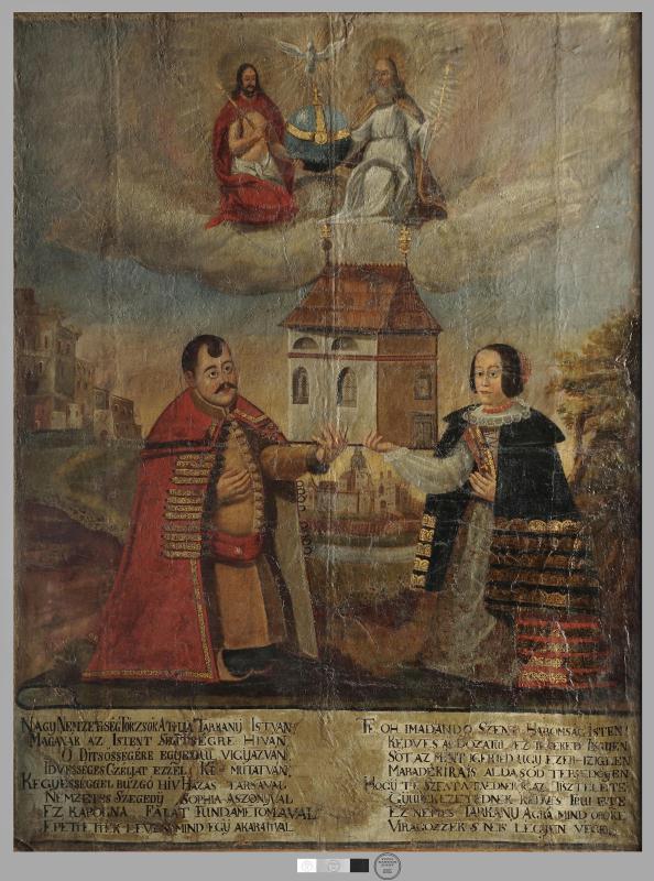 Tárkányi István és felesége kápolnát alapítanak. Magyar Nemzeti Múzeum, 0497